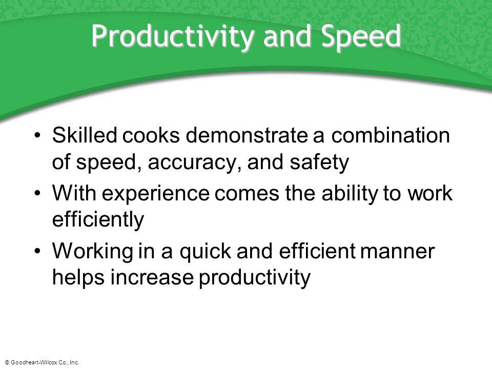 Productivity and Speed