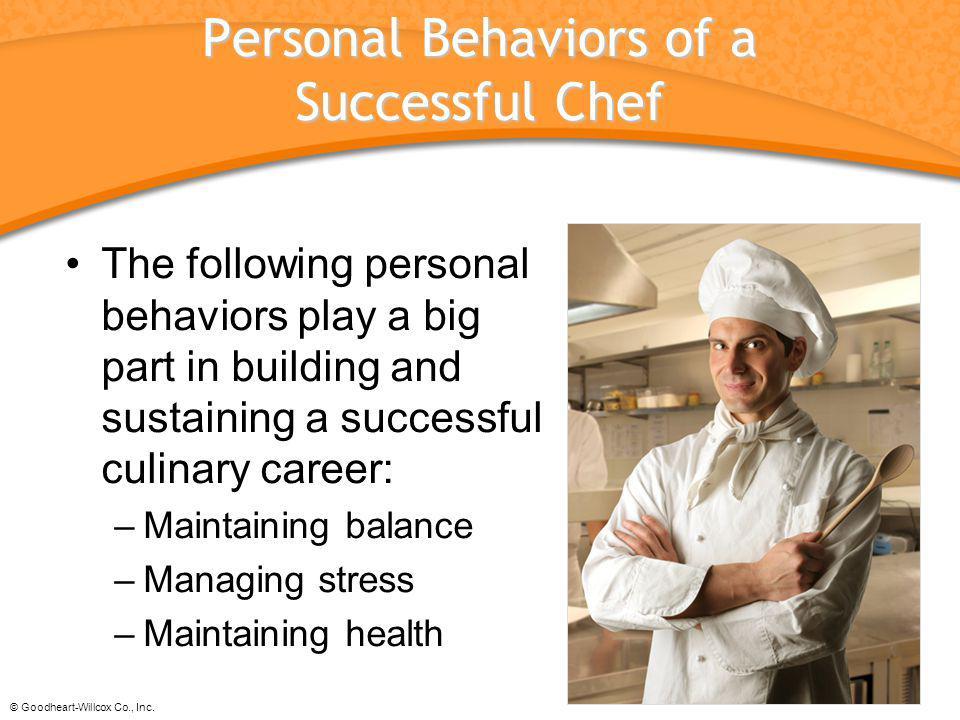 Personal Behaviors of a Successful Chef