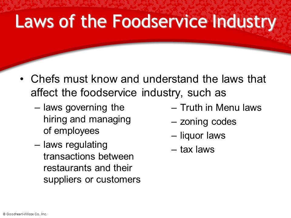 Laws of the Foodservice Industry
