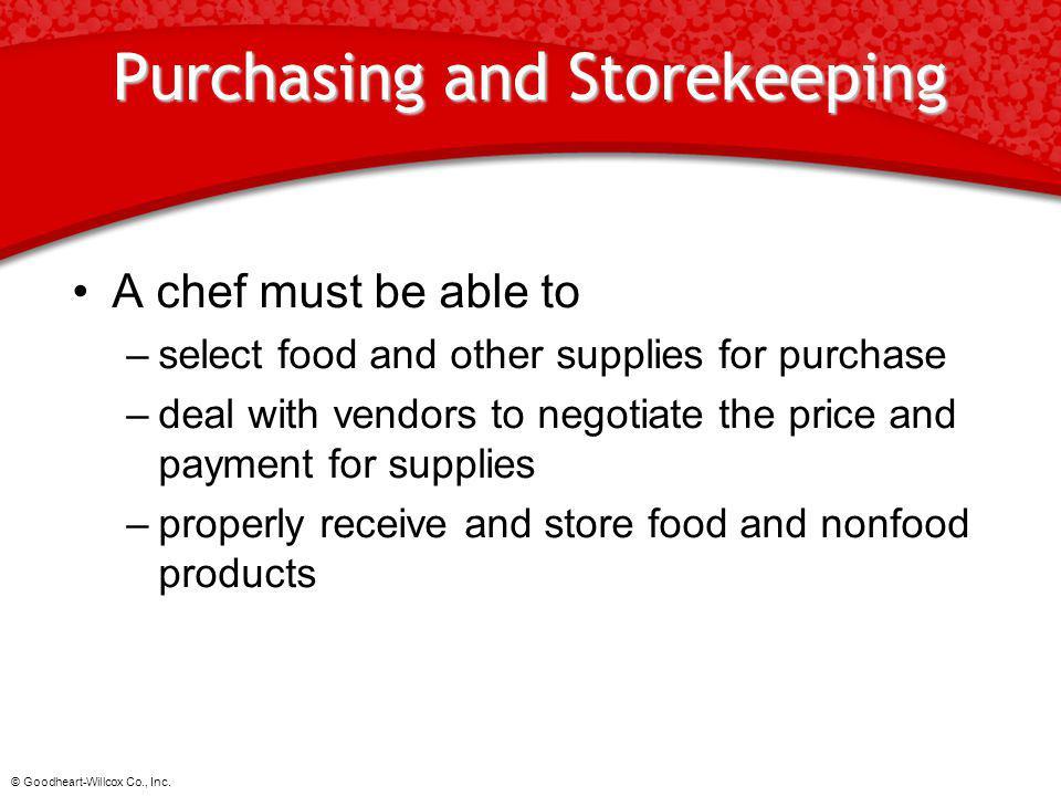 Purchasing and Storekeeping