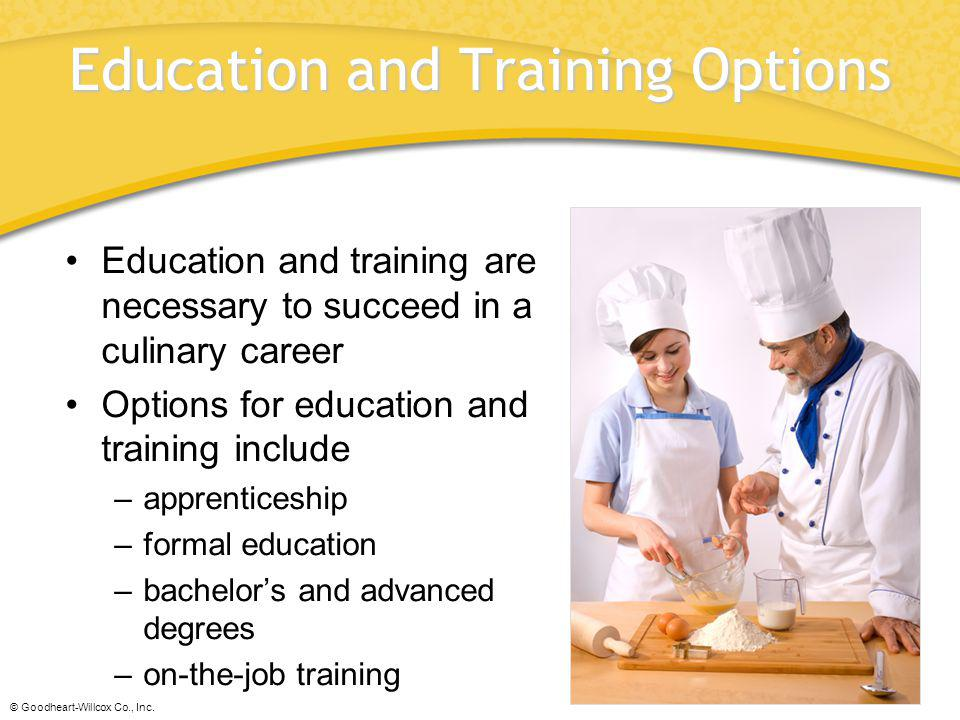 Education and Training Options