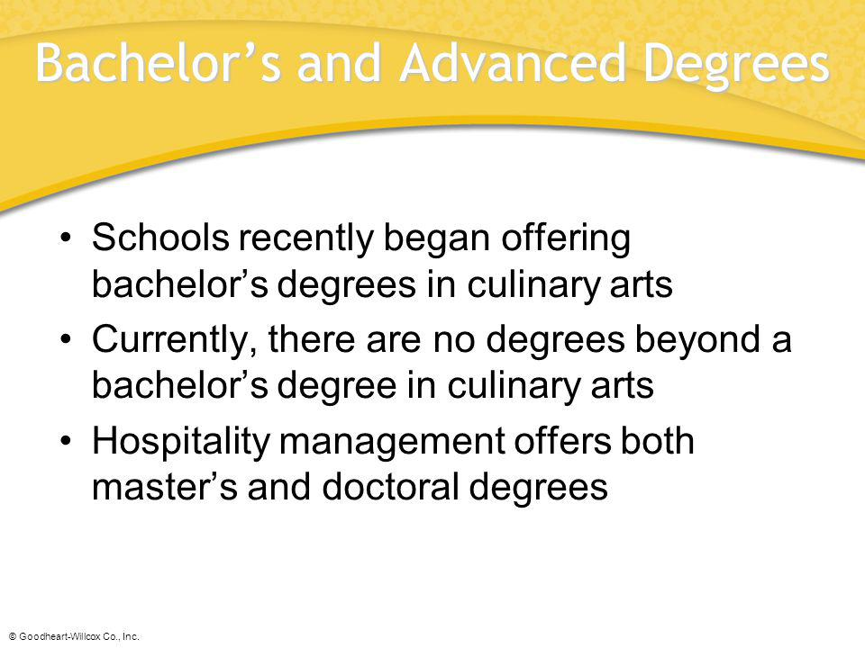 Bachelor's and Advanced Degrees