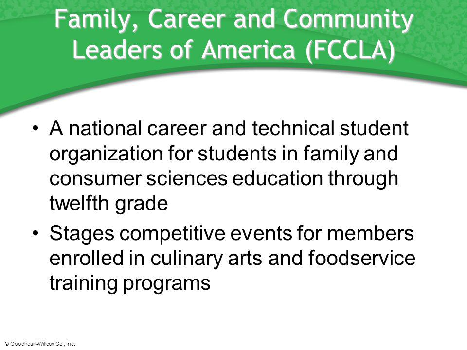 Family, Career and Community Leaders of America (FCCLA)