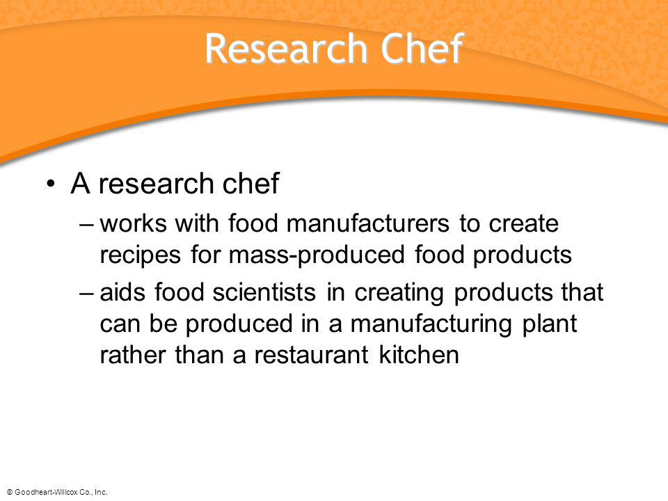 Research Chef A research chef