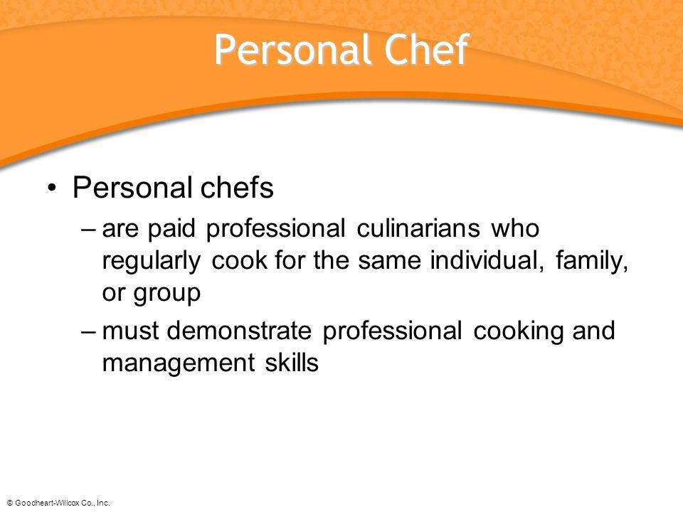 Personal Chef Personal chefs