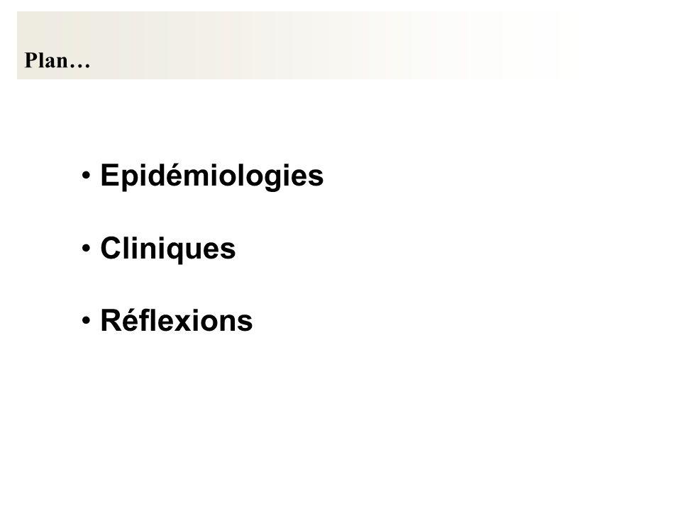 Plan… Epidémiologies Cliniques Réflexions