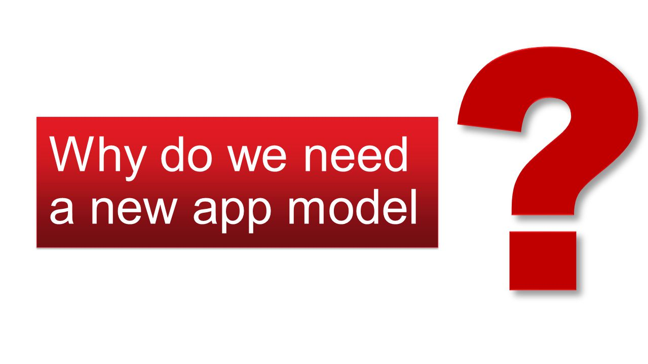 Why do we need a new app model