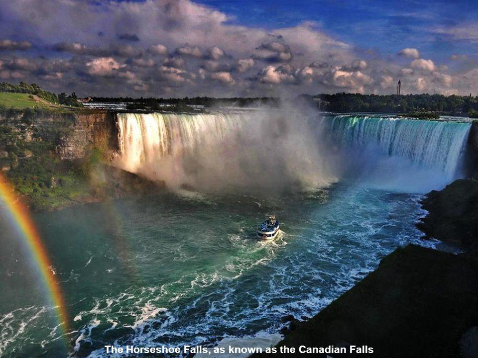 The Horseshoe Falls, as known as the Canadian Falls