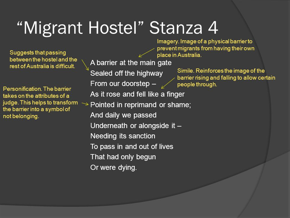 Migrant Hostel Stanza 4