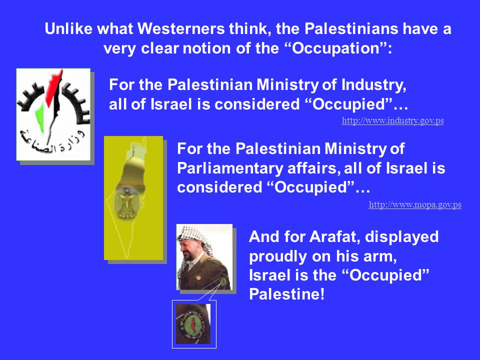 Unlike what Westerners think, the Palestinians have a very clear notion of the Occupation :