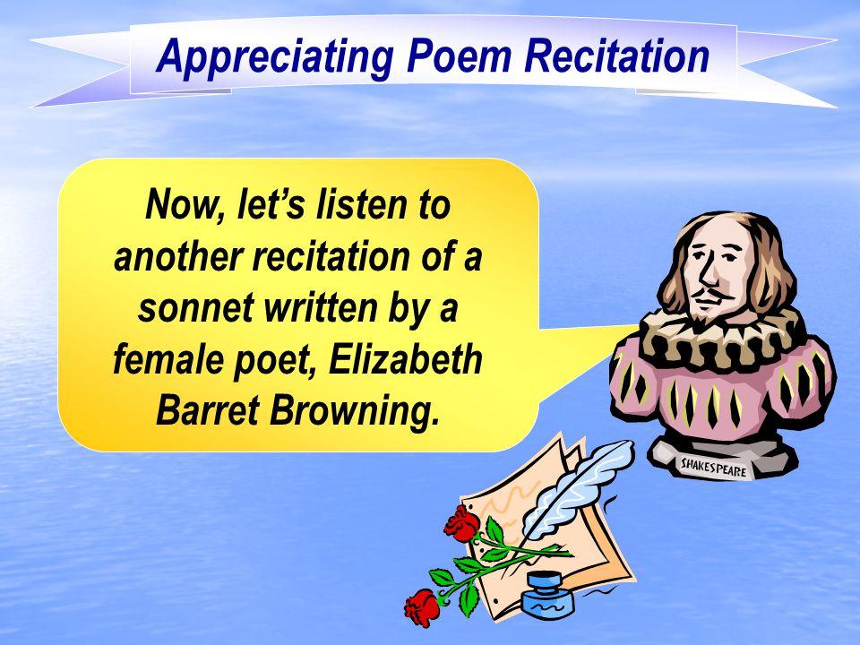 Appreciating Poem Recitation