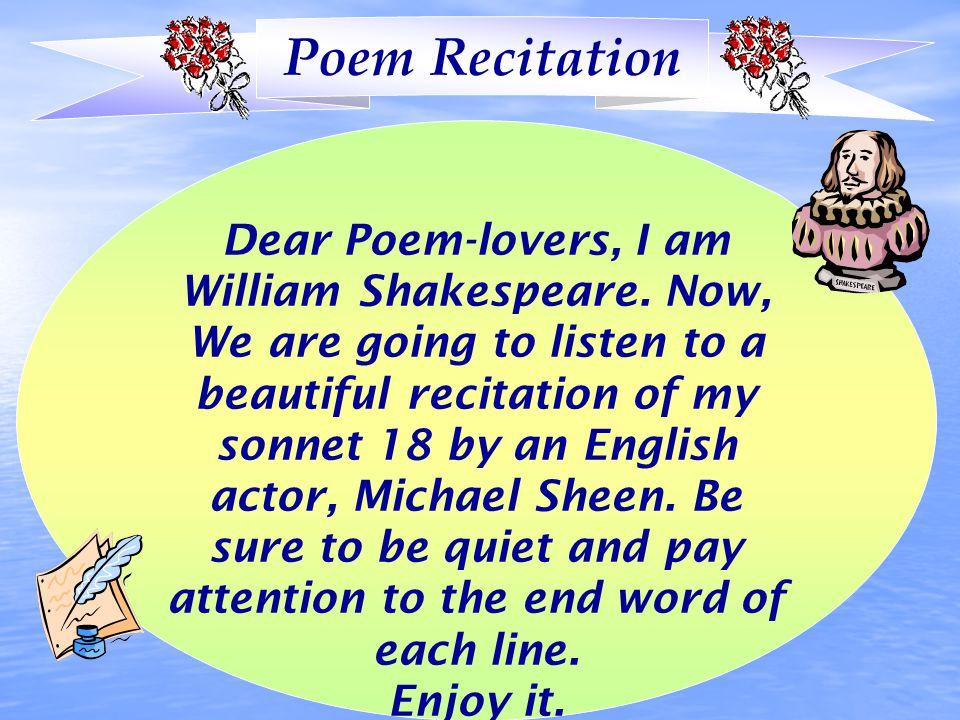 Poem Recitation