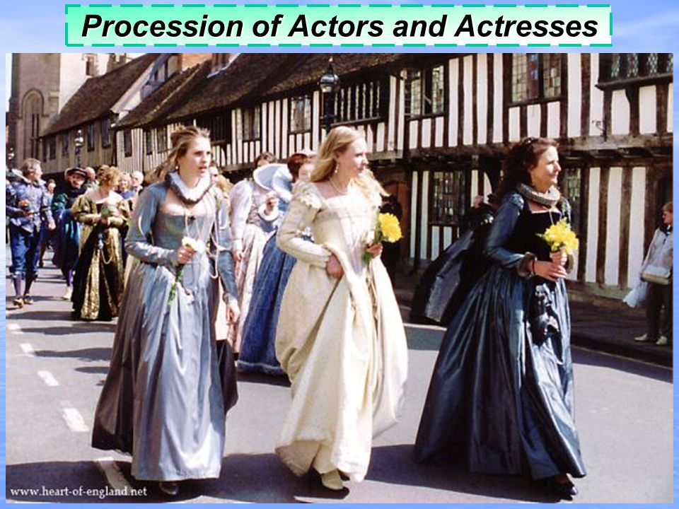 Procession of Actors and Actresses
