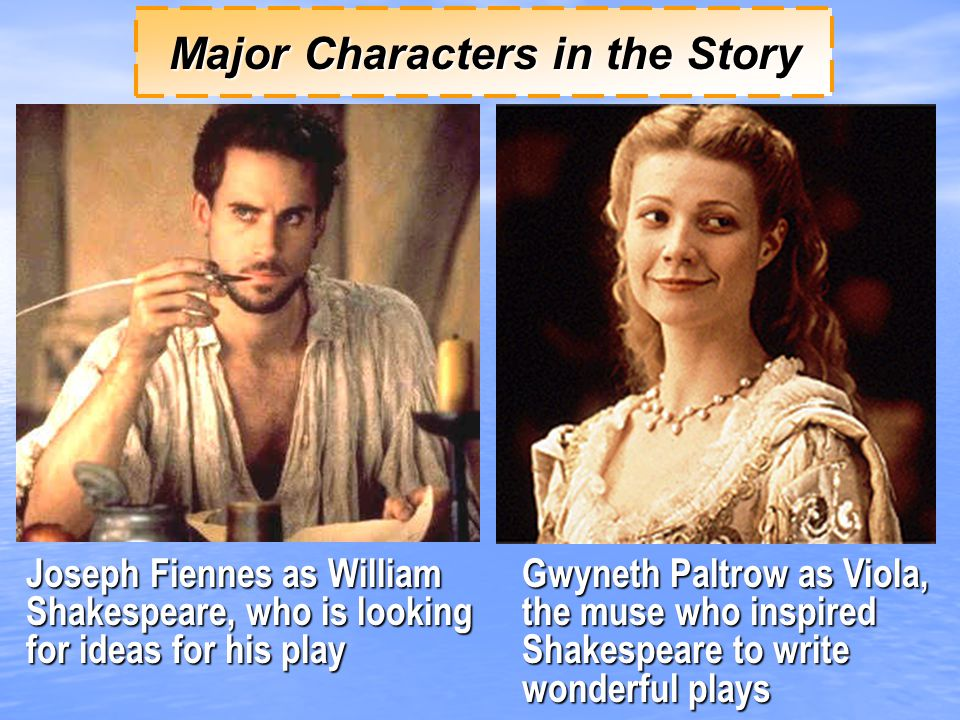 Major Characters in the Story