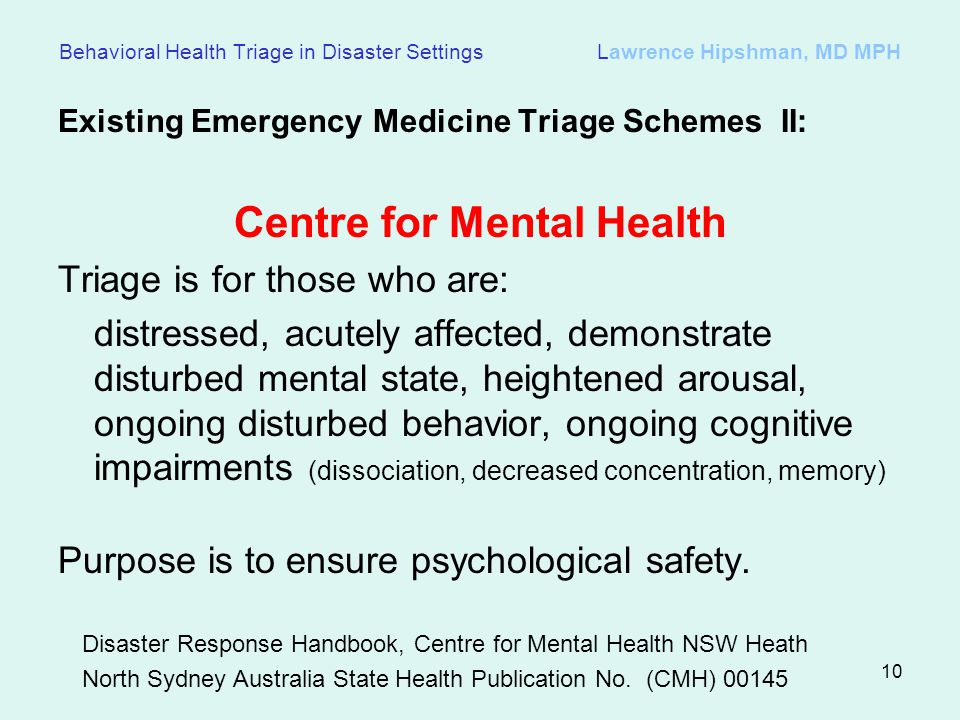 Centre for Mental Health