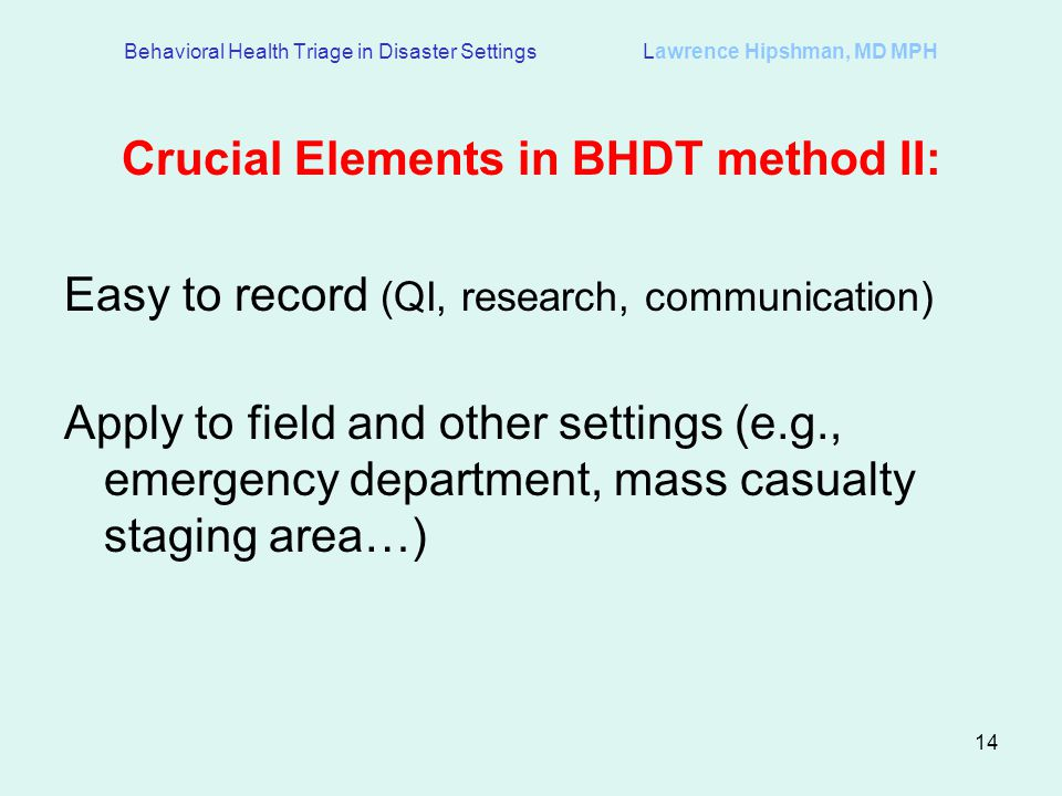 Crucial Elements in BHDT method II: