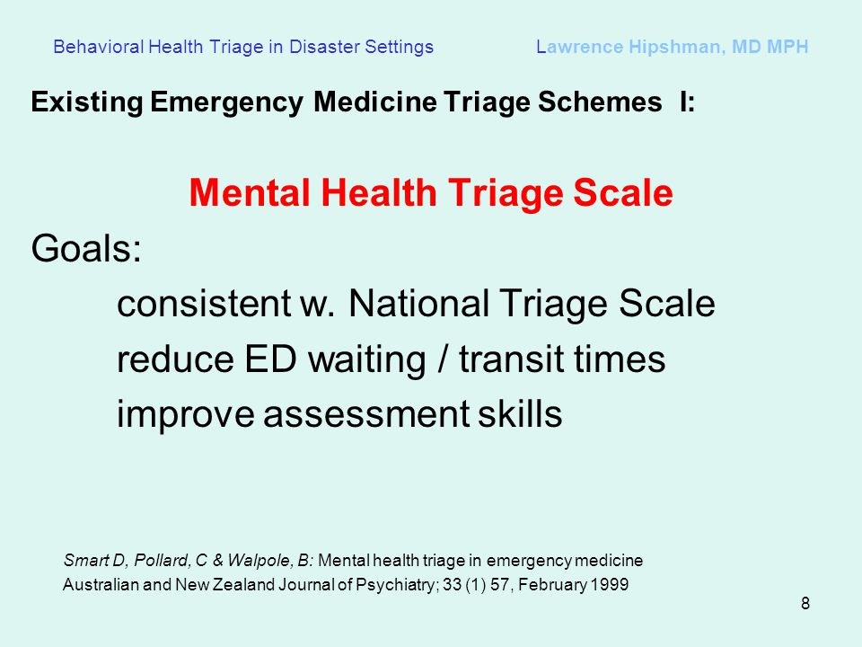 Mental Health Triage Scale