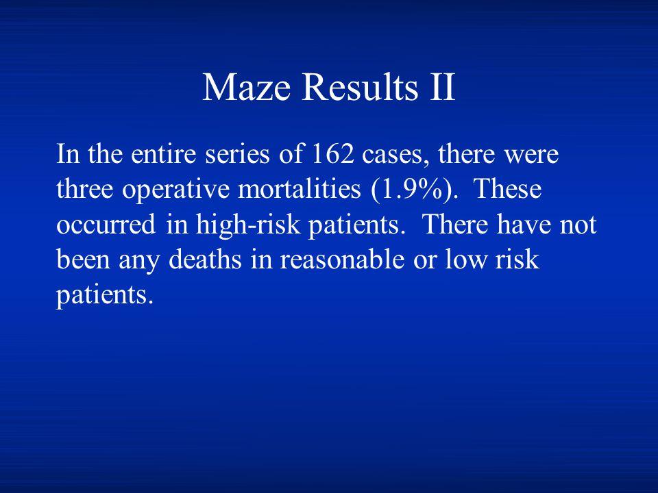 Maze Results II