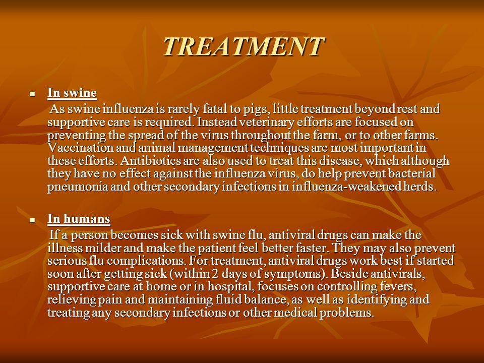 TREATMENT In swine.