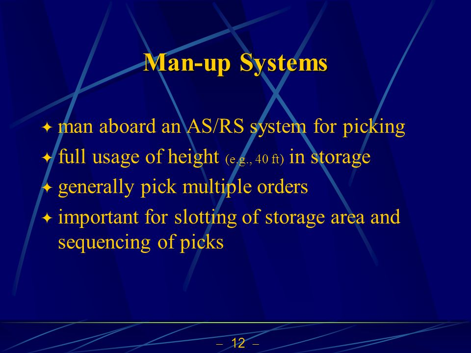 Man-up Systems man aboard an AS/RS system for picking