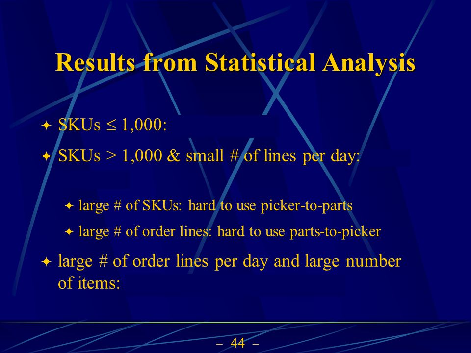 Results from Statistical Analysis