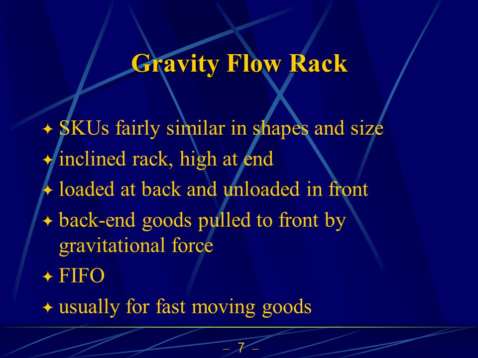 Gravity Flow Rack SKUs fairly similar in shapes and size