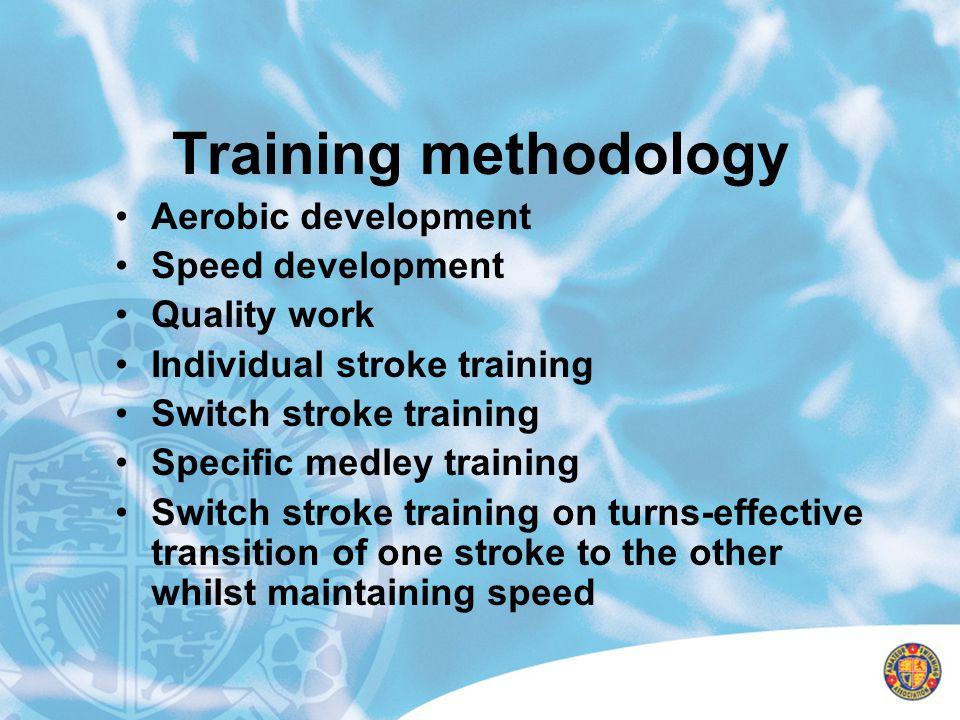 Training methodology Aerobic development Speed development