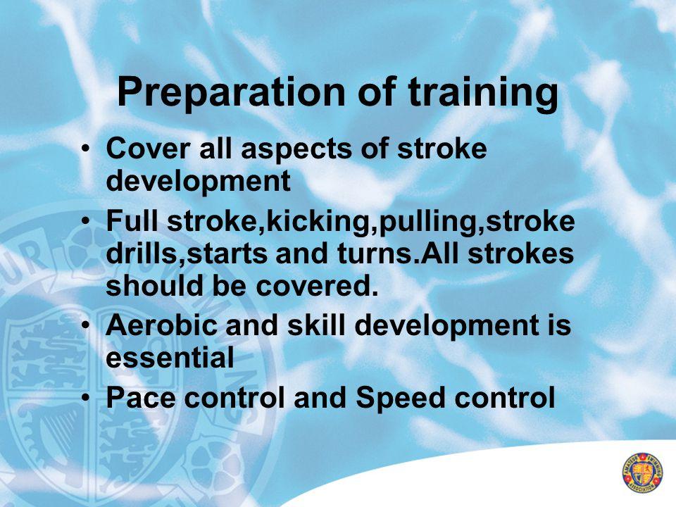 Preparation of training