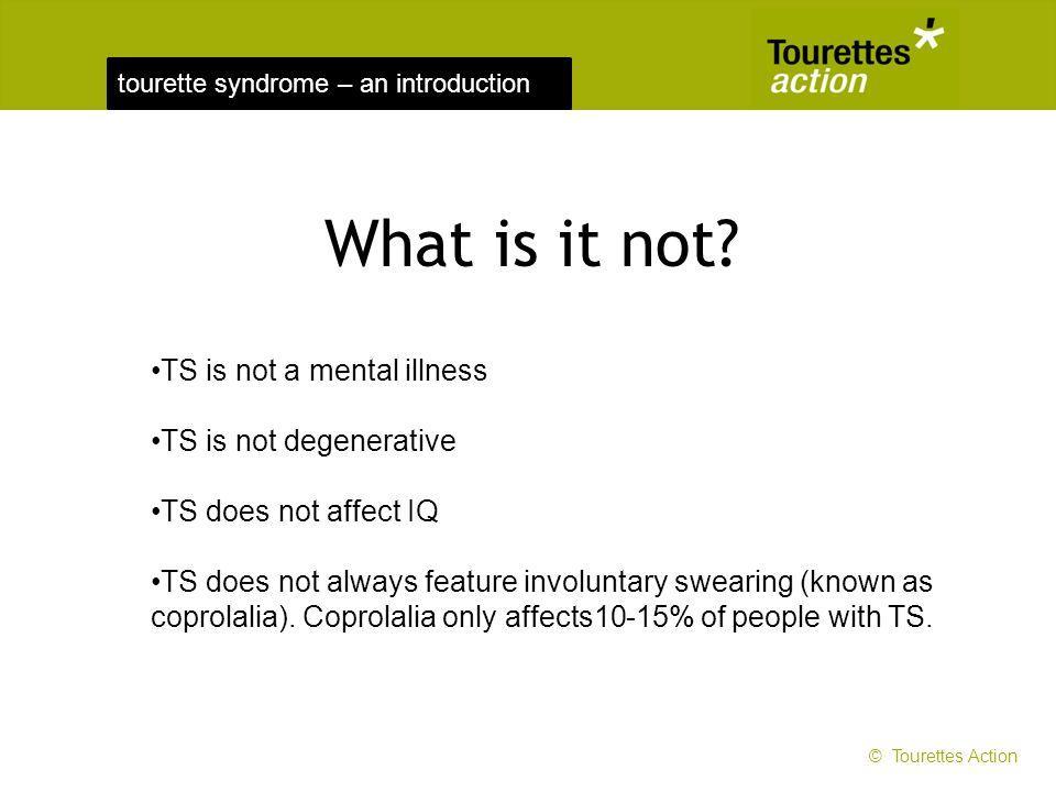 What is it not TS is not a mental illness TS is not degenerative