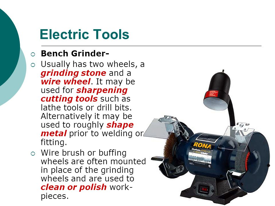 Electric Tools Bench Grinder-