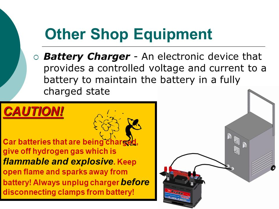 Other Shop Equipment CAUTION!