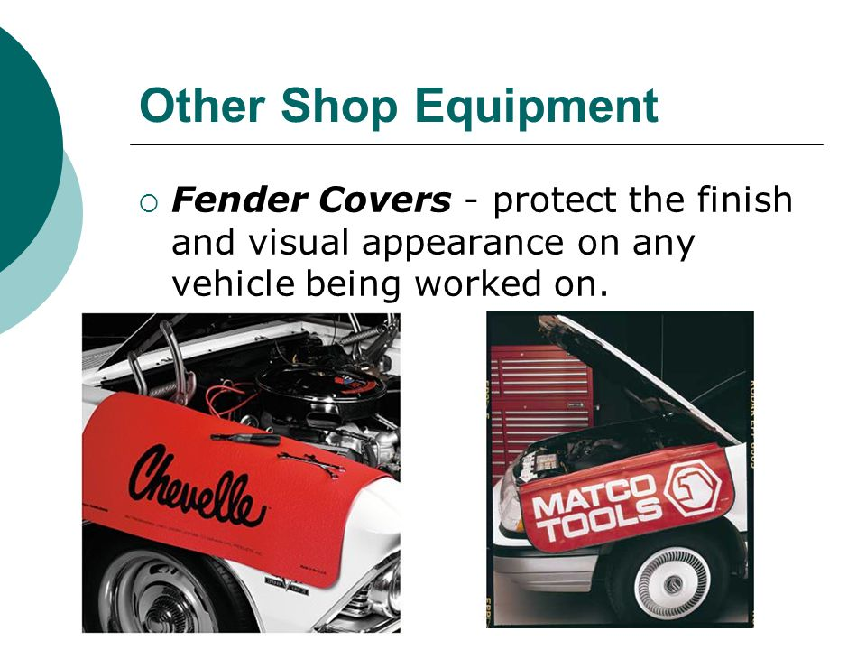 Other Shop Equipment Fender Covers - protect the finish and visual appearance on any vehicle being worked on.