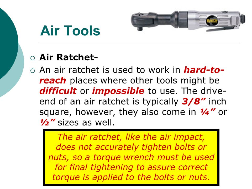 Air Tools Air Ratchet-