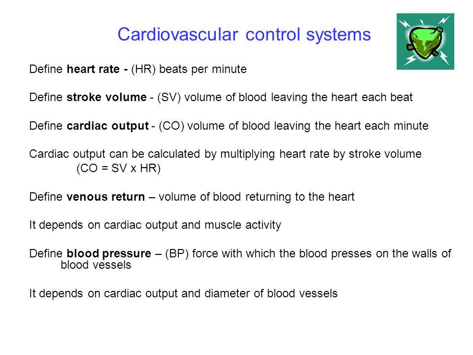 Cardiovascular control systems