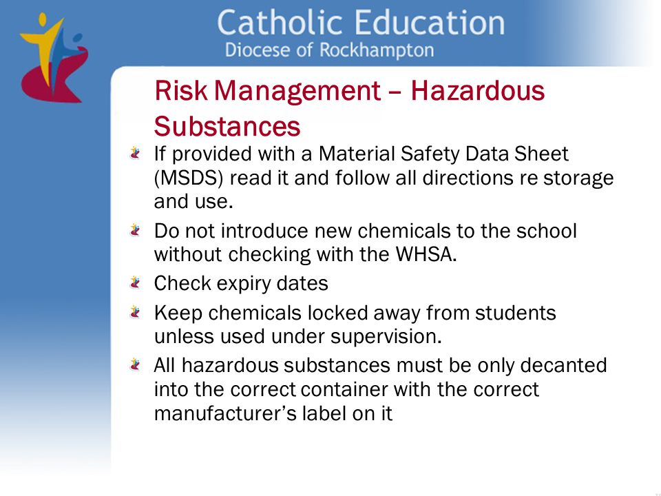 managing risks of hazardous chemicals 2 code of practice managing the risks of hazardous chemicals in the workplace this code of practice on how to manage the risks associated with hazardous chemicals in.