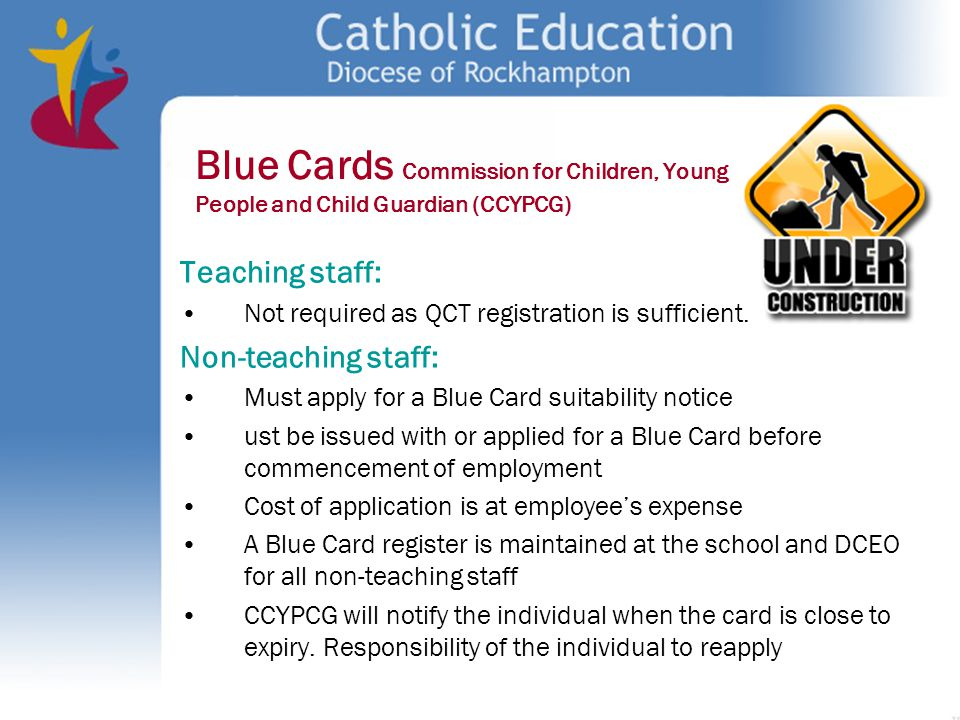 Blue Cards Commission for Children, Young People and Child Guardian (CCYPCG)
