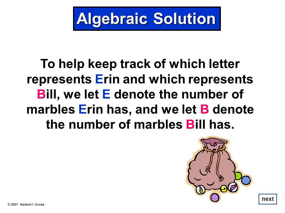 Algebraic Solution