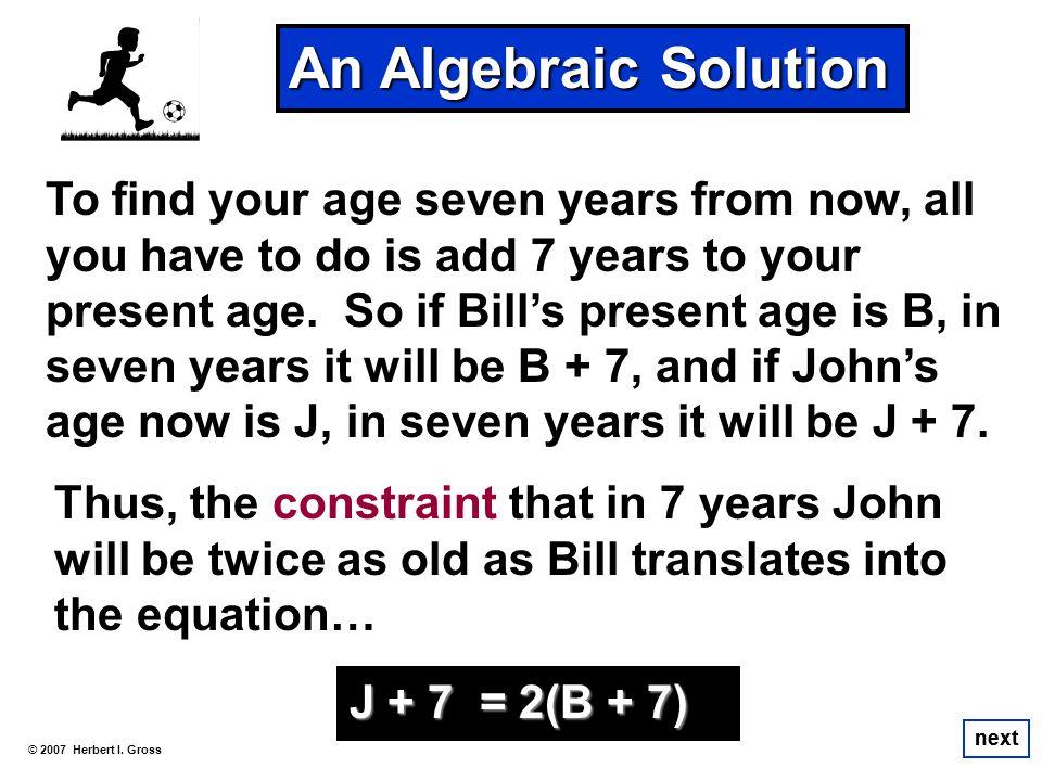 An Algebraic Solution