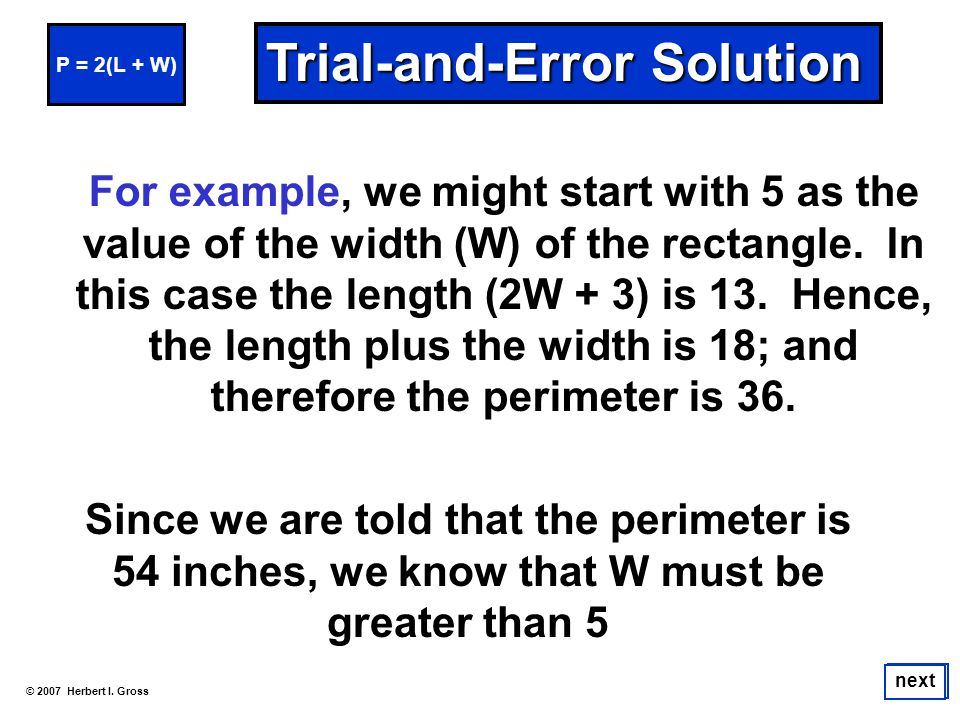 Trial-and-Error Solution