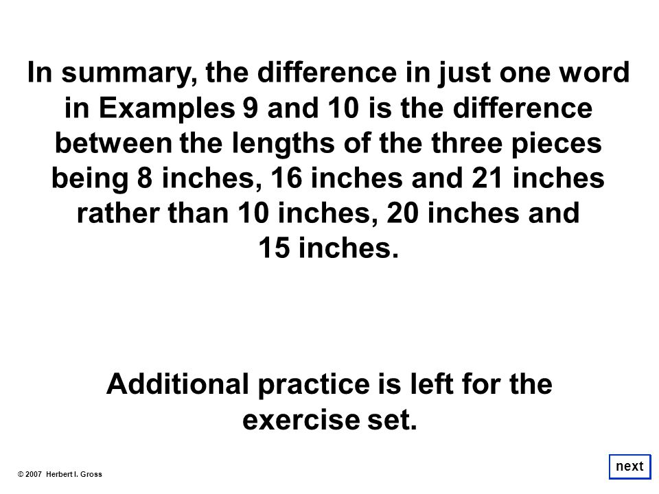 Additional practice is left for the exercise set.