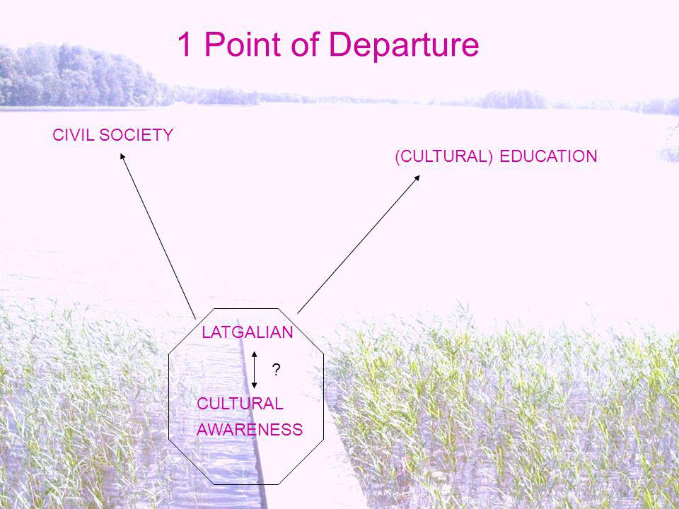 1 Point of Departure CIVIL SOCIETY (CULTURAL) EDUCATION LATGALIAN