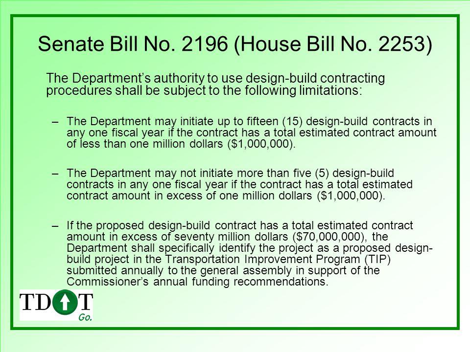 Senate Bill No. 2196 (House Bill No. 2253)