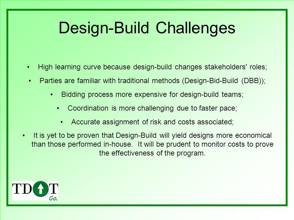 Design-Build Challenges