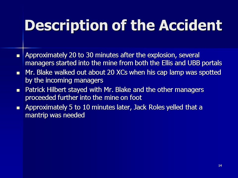 Description of the Accident