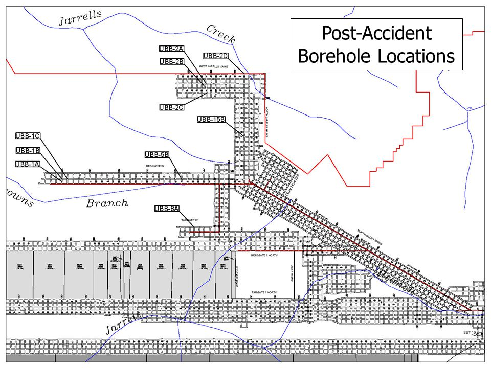 Post-Accident Borehole Locations