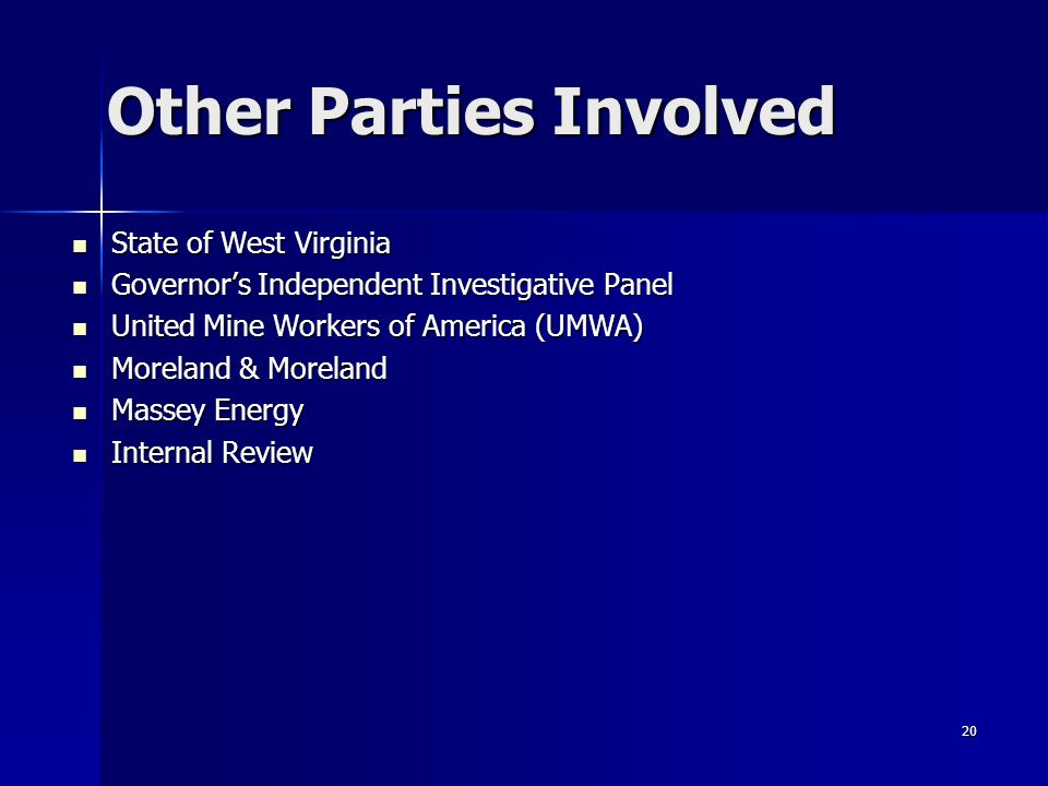 Other Parties Involved