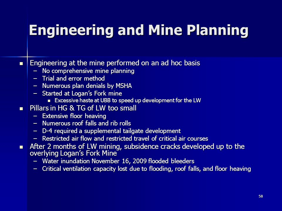 Engineering and Mine Planning