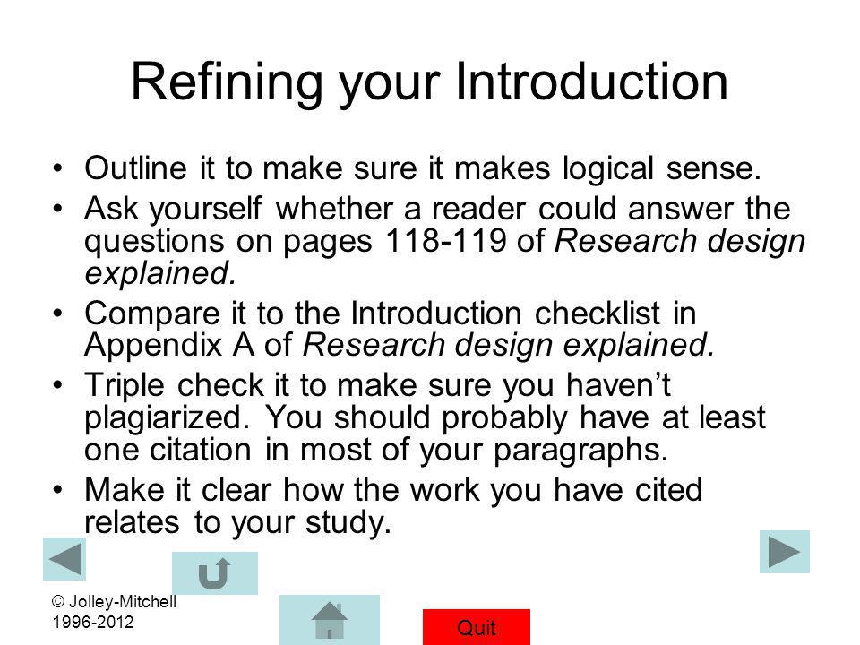 Refining your Introduction