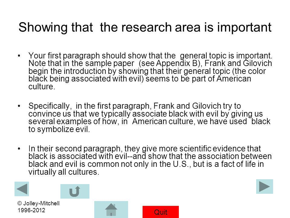 write company research paper