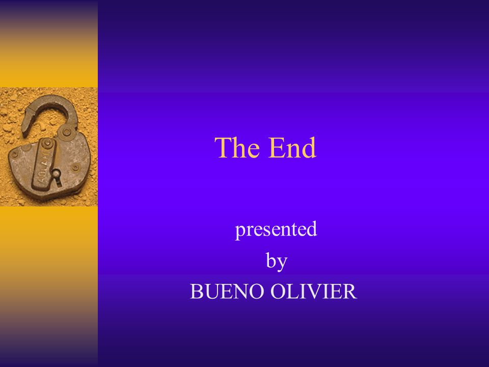presented by BUENO OLIVIER